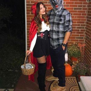 Red Velvet Halloween Cape